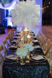 wedding photo - Glamorous Great Gatsby Wedding Inspiration - Belle The Magazine