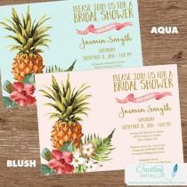 wedding photo - Tropical Bridal Shower Invitation