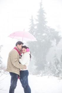 wedding photo - The Prettiest Snow Storm Engagement Session - Belle The Magazine