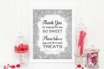 wedding photo - Silver Sparkle Candy Buffet Sign, PRINTABLE download, Bling Candy Table, Candy Bar, Bridal Shower, Baby Shower, Wedding, Best Selling Item