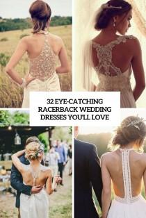 wedding photo - 32 Eye-Catching Racerback Wedding Dresses You'll Love - Weddingomania
