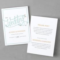 wedding photo - Printable Wedding Program Template