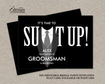 wedding photo - Printable Groomsman Proposal Card