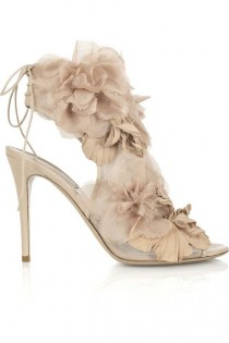 wedding photo - Valentino Floral Organza Sandals