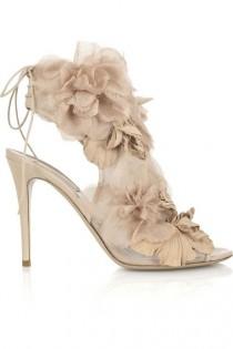 wedding photo - Valentino Floral Organza Sandals