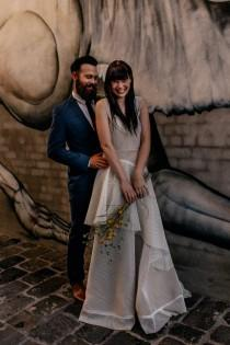 wedding photo - Hipster Inspired Elopement Shoot