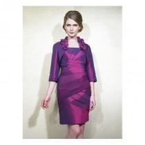 wedding photo - Elegant Taffeta Square Neckline Knee-length Sheath Mother Of The Bride Dress - overpinks.com