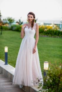 wedding photo - Chic dress Prom dress Princess dress in pale pink Tulle dress Romantic gown Boho dress Formal gown Long gown Cocktail dress Sleeveless dress
