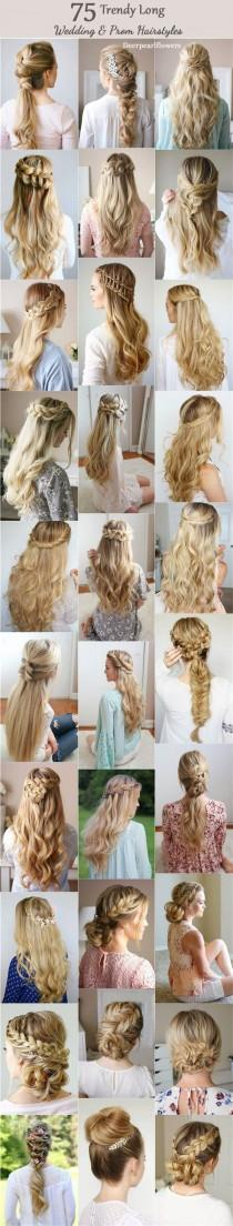 wedding photo - 75 Trendy Long Wedding & Prom Hairstyles To Try In 2017