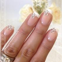 wedding photo - Stone Nail Art