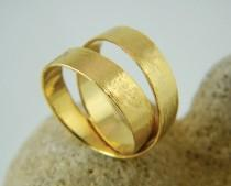 wedding photo - Unique wedding ring Gold wrap ring handmade ring
