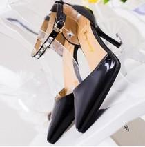 wedding photo - Wedding Shoes Women Ankle Strap Heels Rhinestone