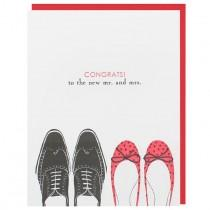 wedding photo - Wedding Shoes Mr. And Mrs. Card
