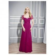 wedding photo - Chic Chiffon Sheath Square Neckline Floor-length Mother of the Bride Dresses - overpinks.com