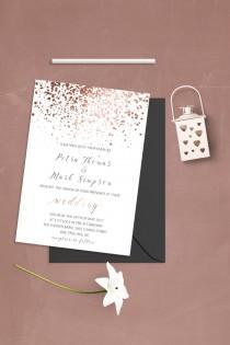 wedding photo - Simple Wedding Invitation Template Modern Wedding Invitation Set Caligraphy Wedding Invitations Typography Wedding Invitation Printable File
