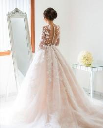 wedding photo - Beautiful Ball Gown Wedding Dress With Sleeves