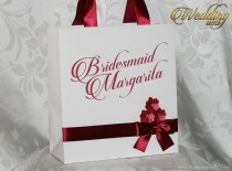 wedding photo - Personalized Bridesmaids' Gifts paper bags whith - wedding gifts - personalized paper bags - bridal shower favors - bridal shower gifts
