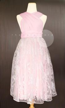 wedding photo - White Organza Overlay Skirt for Convertible Dress / Infinity Dress / Wrap Dress / Octopus Dress