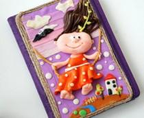 wedding photo - Handmade Notebook Polymer Clay Spring is coming! Journal Personal diary Writing journal Memory book Unique gift For her Best friend gift Joy