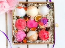 wedding photo - Bath Bomb Gift Box - 9 Rituals - Handmade Gift - Pamper gift - Natural - Bridesmaid - Gift For Her - Gift for mum - Birthday - Mothers Day