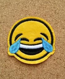 wedding photo - Emoji Iron on Patch - Emoji Patch Emoji Iron on Patches  Emoji Applique Embroidered Patch Sew On Patch, Best Gift