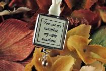 wedding photo - Vintage Autumn Wedding Memorial Photo Bouquet Charm