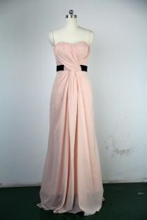 wedding photo - Handmade Bridesmaid Dress, A-line Sweetheart Long Chiffon Prom Dress 2012 With a Sash