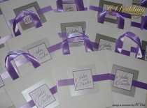wedding photo - 20 Wedding Hotel Welcome Bags with Lavender ribbon and tag - Custom Wedding bags Elegant Paper Bags Out of Town Bags Bridal Shower bags