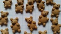 wedding photo - Royal icing teddy bears -- Edible handmade cupcake toppers cake decorations (12 pieces)