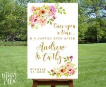 wedding photo - Romantic Florals / Printable Wedding Welcome sign, Watercolor welcome sign printable, Reception sign printable, Wedding Poster, Digital File