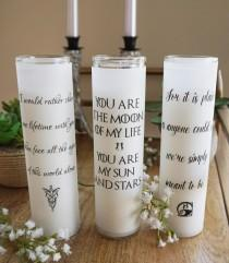 wedding photo - DIY these geeky wedding candles for centerpieces or a unity candle