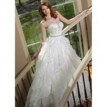 wedding photo - Ball Gown Sweetheart Organza Natural Waist Chapel Train Unique Bridal Gowns - Compelling Wedding Dresses