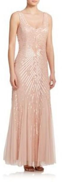 wedding photo - Sequined Godet Bridesmaid Gown