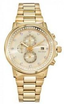 wedding photo - Citizen Eco-Drive Nighthawk Crystal Stainless Steel Chronograph Watch - FB3002-53P