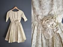 wedding photo - 50s brocade dress / short wedding dress