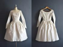 wedding photo - Elsa / 1950s wedding dress / vintage 50s wedding dress