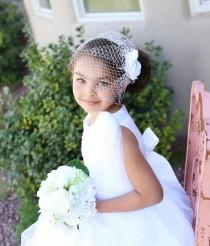 wedding photo - Birdcage veil headband-Bridal veil fascinator with veil-Blusher veil- Russian veiling- Bridal hair piece - Wedding Hair- Bridal comb