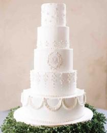 wedding photo - 70 White Wedding Cakes