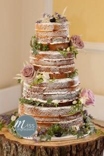 wedding photo - Naked Cake: La Tendencia En Tartas Para Bodas
