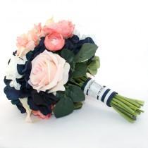 wedding photo - AHOY Nautical Bridal Bouquet