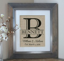 wedding photo - Burlap Wedding Gift