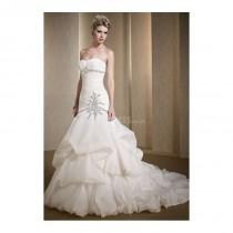 wedding photo - Elegant Mermaid Organza Floor Length Sweetheart Wedding Dress With Pick ups - Compelling Wedding Dresses