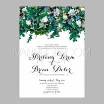 wedding photo - Peony wedding invitation printable template with floral wreath or bouquet of rose flower and daisy - Unique vector illustrations, christmas cards, wedding invitations, images and photos by Ivan Negin