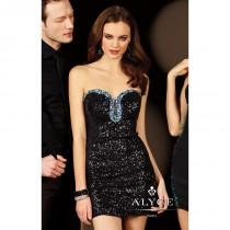 wedding photo - Aubergine Alyce Paris 4393 - Short Sequin Dress - Customize Your Prom Dress