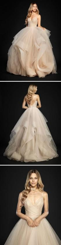 wedding photo - Backless Ball Gown,Layered Tulle Prom Dress,Custom Made Evening Dress,17138
