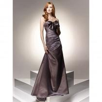 wedding photo - Column Sweetheart Bowknot Sleeveless Floor-length Satin Prom Dresses Evening Dresses In Canada Prom Dress Prices - dressosity.com