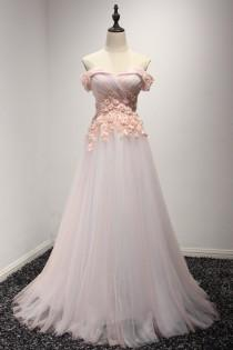 Top Beautiful Flowers A Line Bridal Gown Sexy Off Shoulder Tulle Wedding Dress Romantic Beach 2017 Prom Long Women Evening