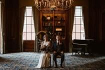wedding photo - Elegant And Moody Wedding Shoot With Vintage Touches - Weddingomania