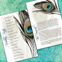 wedding photo - Peacock Wedding Ceremony Programs