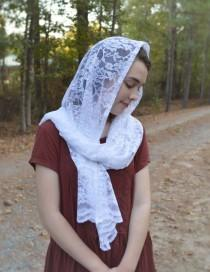 wedding photo - Catholic Soft White Rectangular Scarf